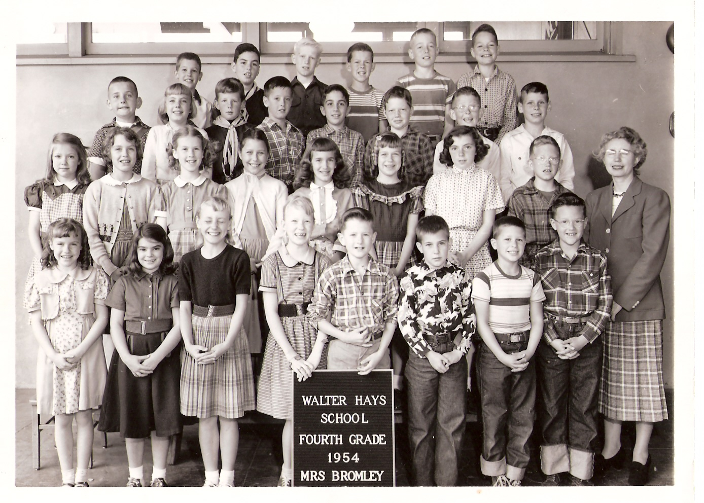 Walter Hays Elementary Fourth Grade Class, 1954